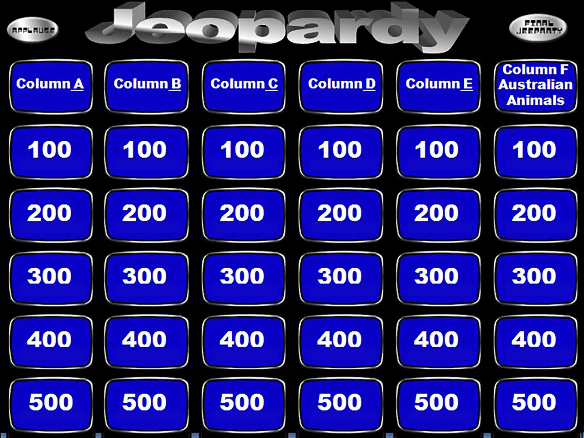Jeopardy bubbled