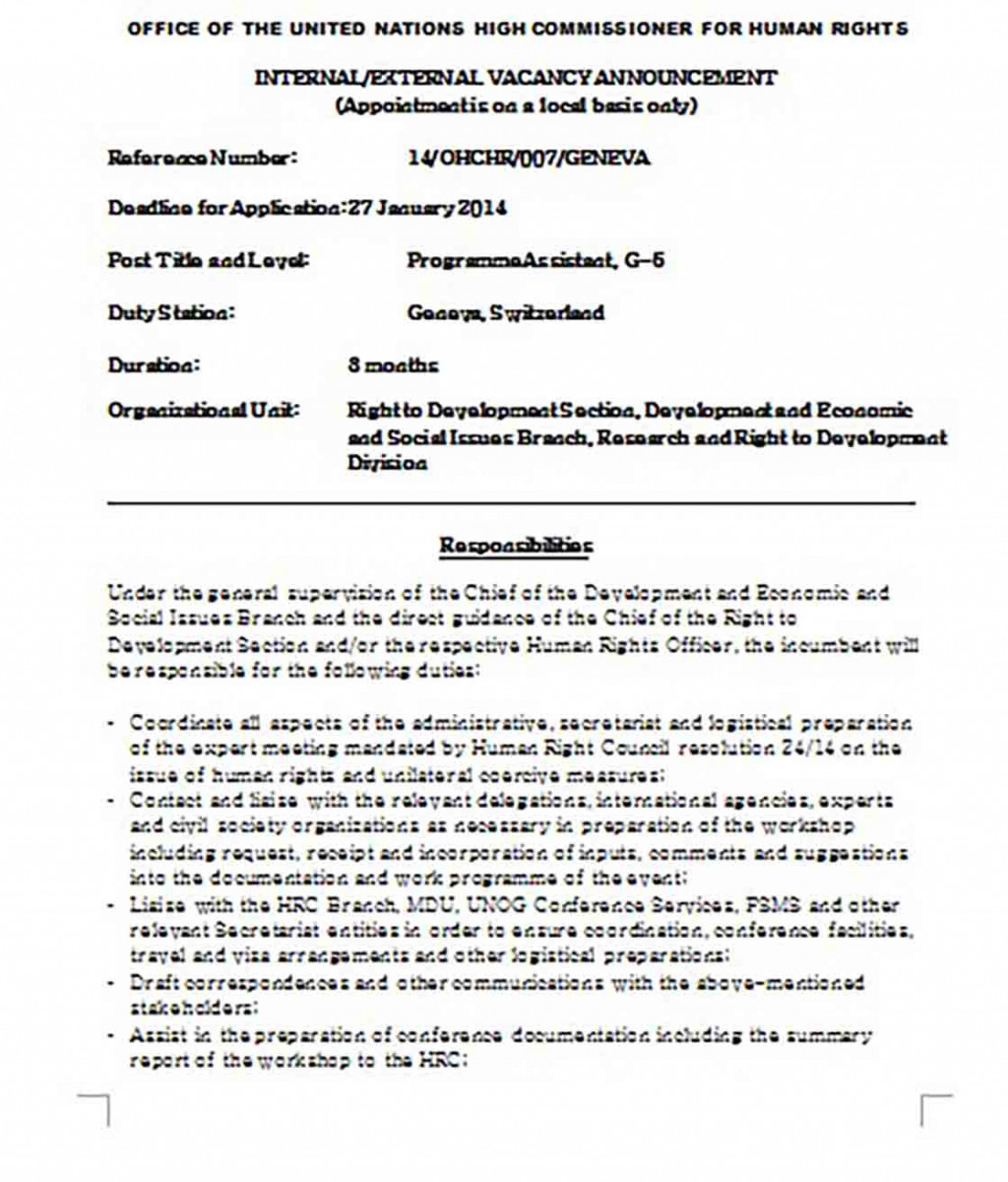 Job Description for a Post of Administrative Assistant Cover Letter