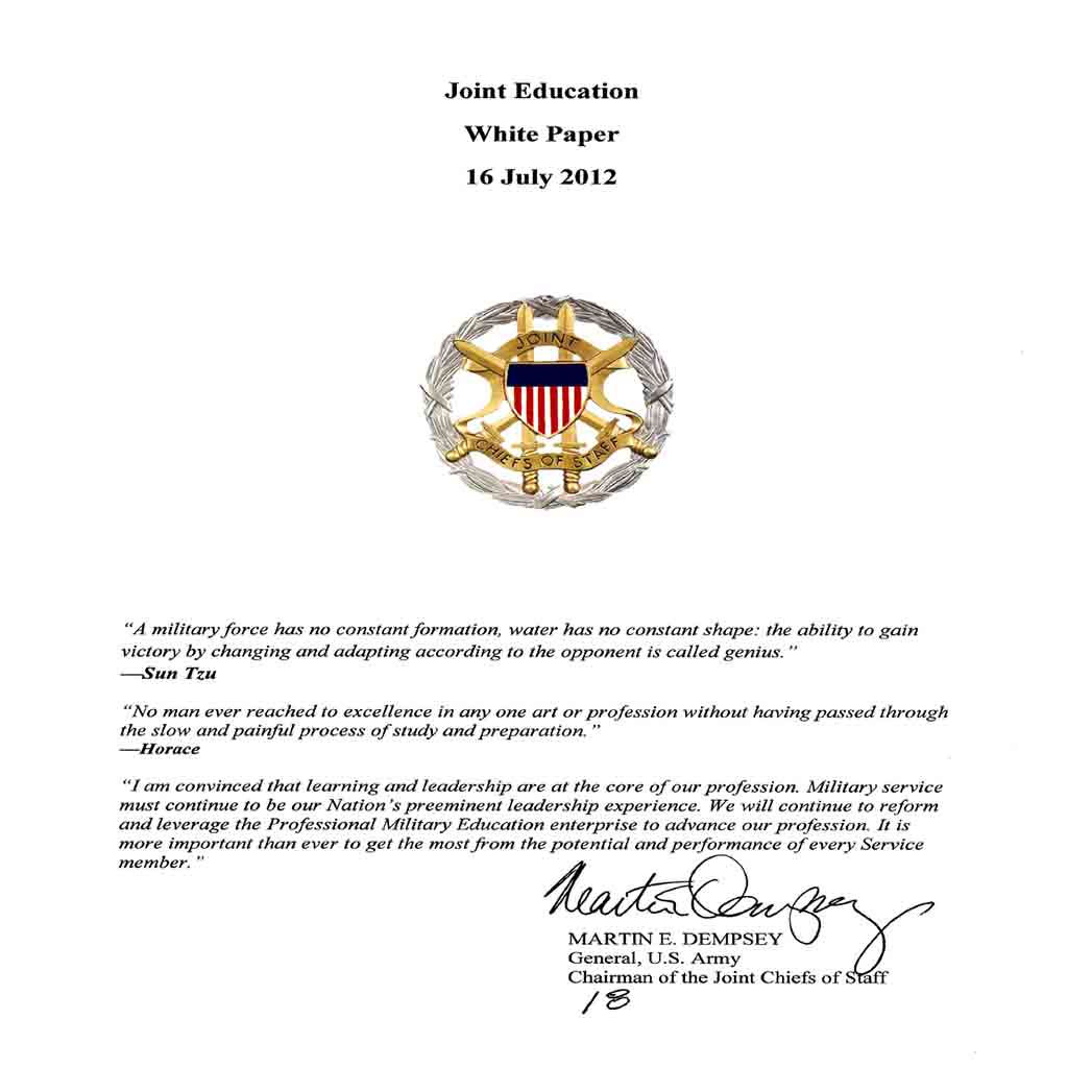 Joint Education White Paper 1