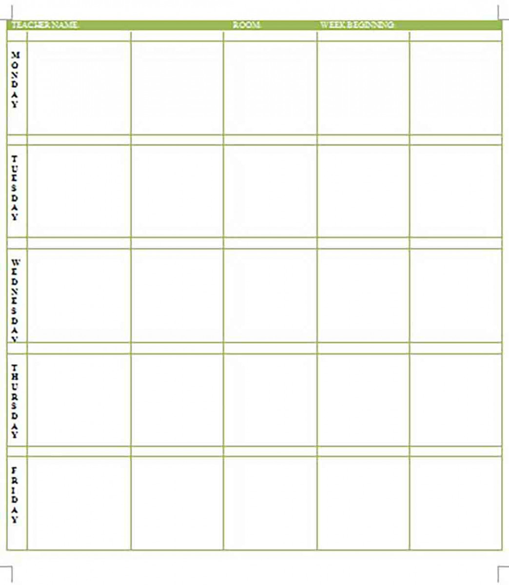 Lesson Plan Form templates Word