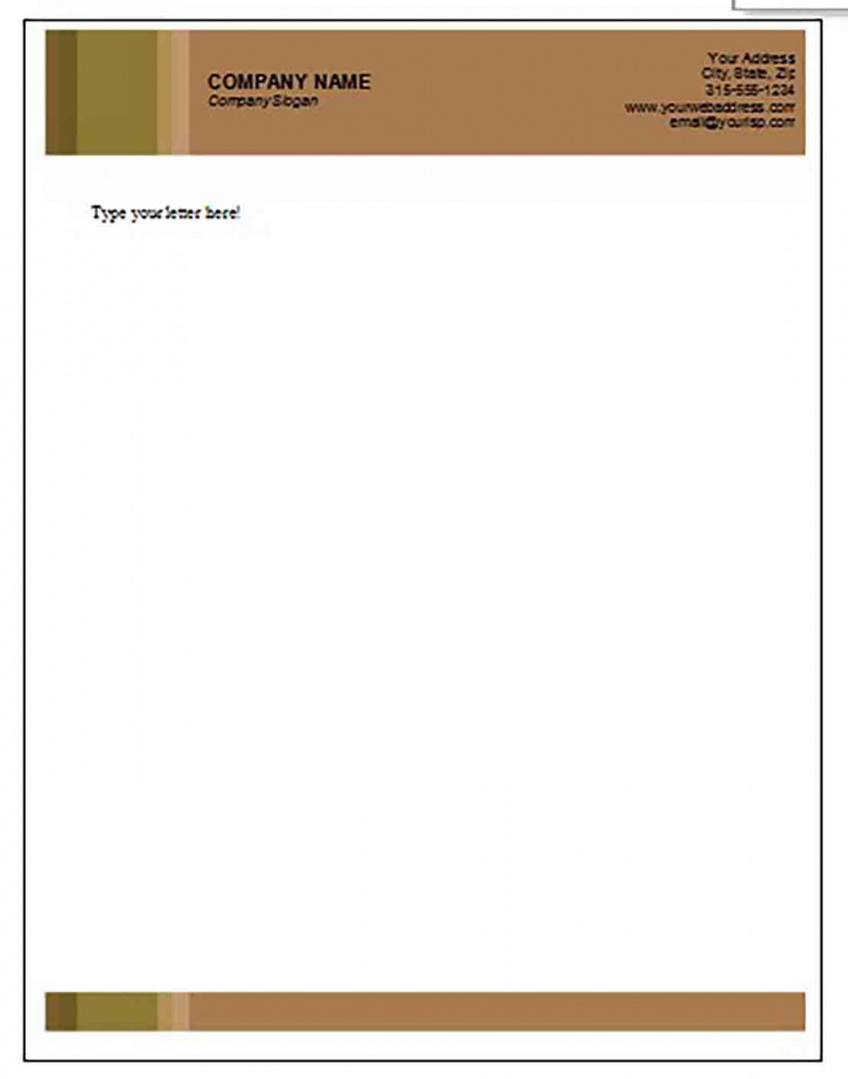 Letterhead templates in Brown Colour for