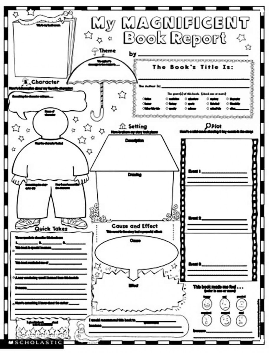 Magnificent Book Report templates Sample