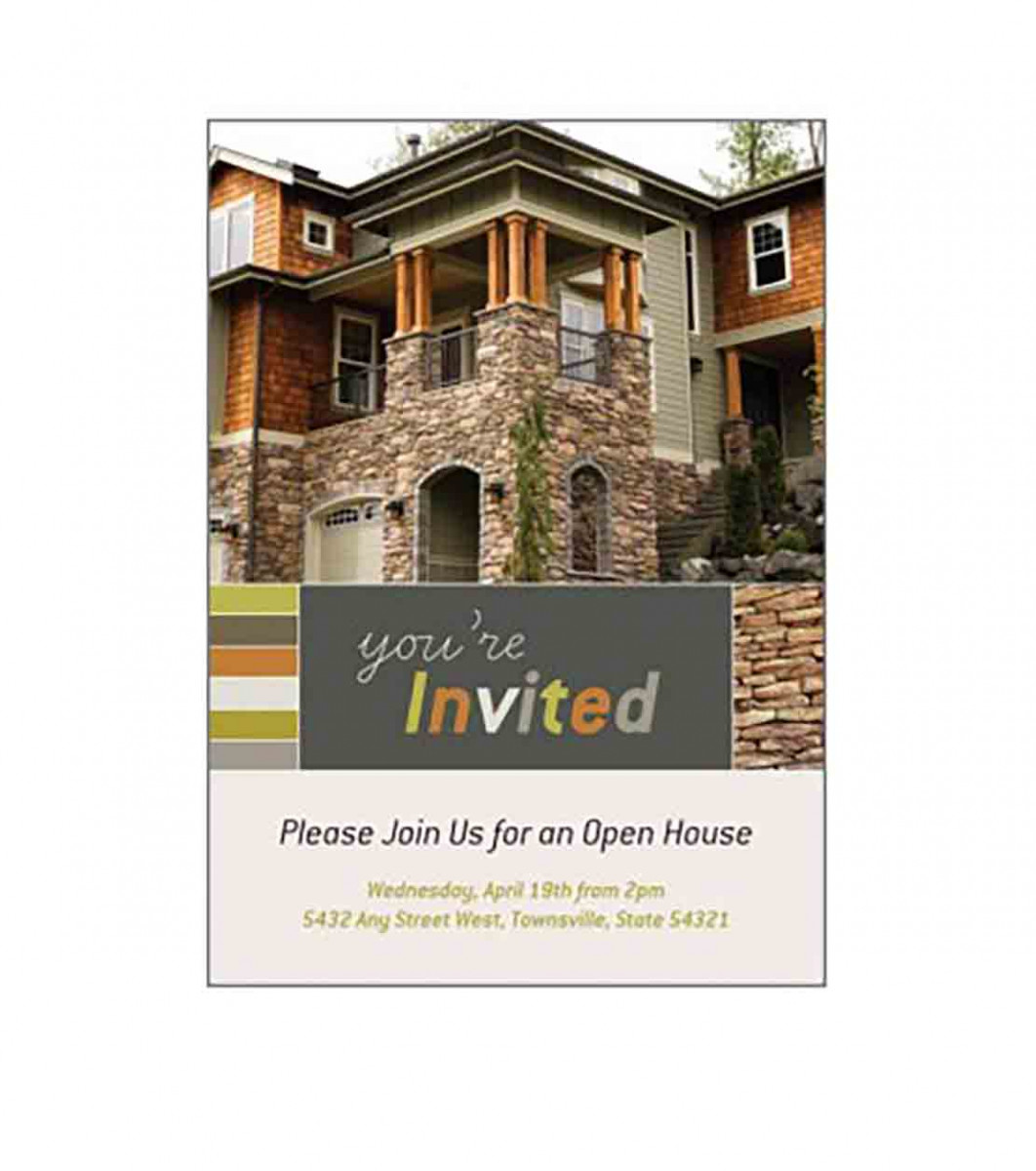 Open House Invitation in Microsoft Publisher