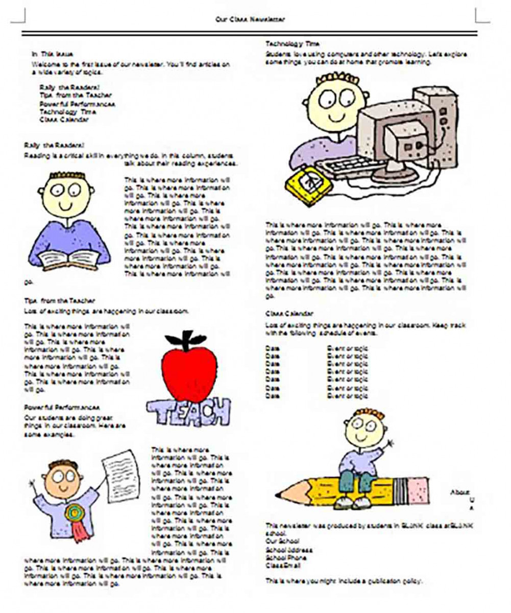 Our Class Newsletter