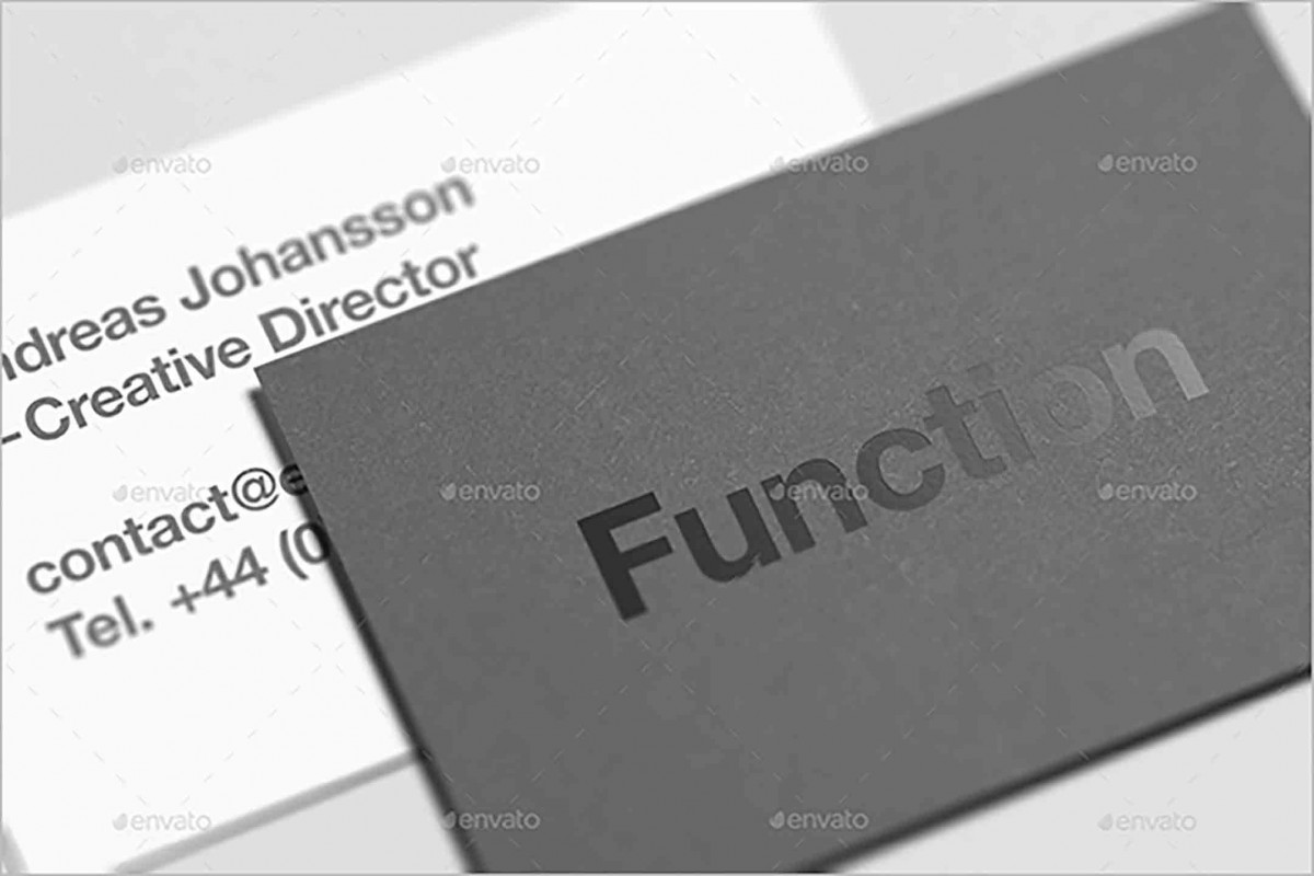 Premium Staples Business Cards Mock Up