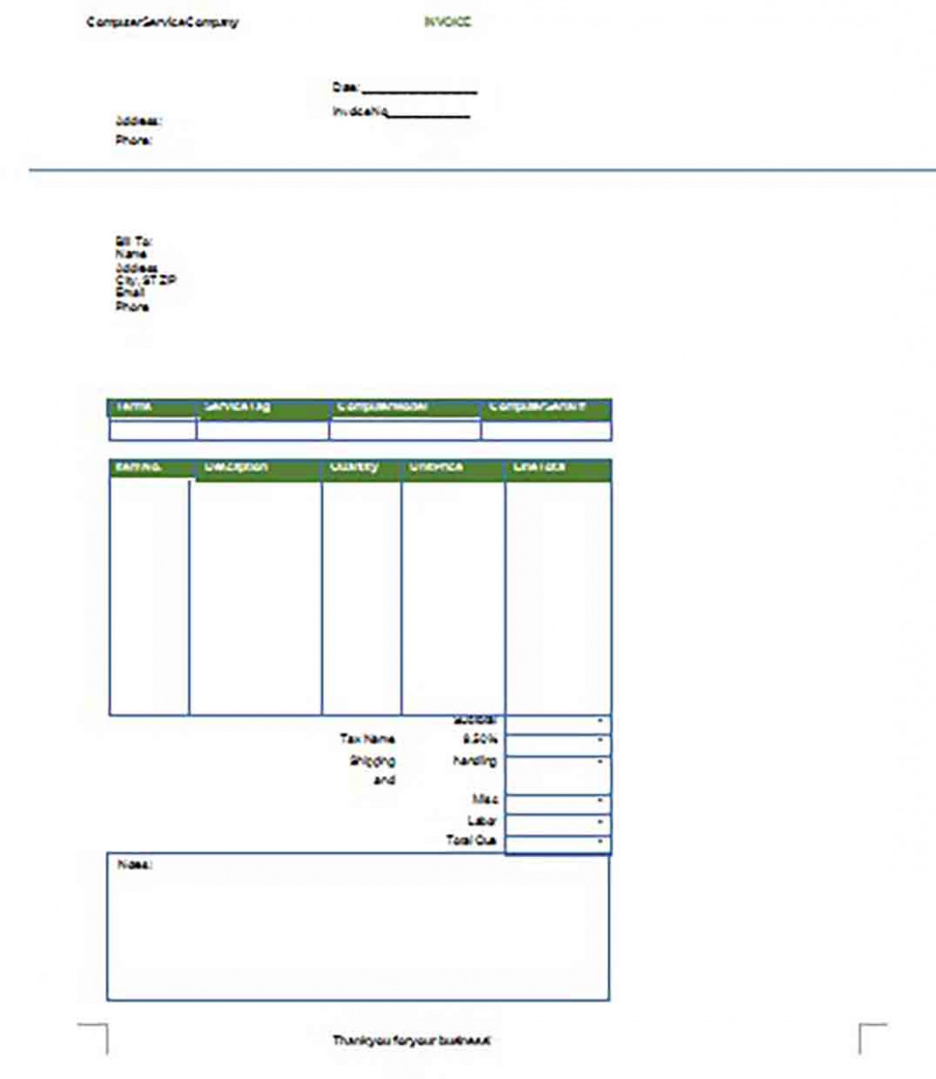 Printable Google Invoice templates 1