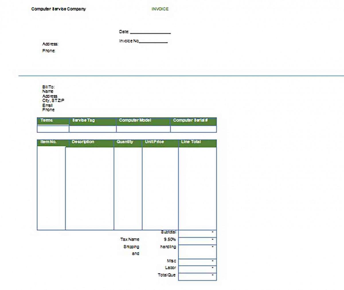 Printable Google Invoice templates