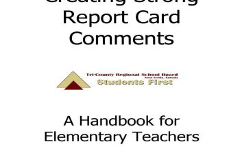 Report Card Comments templates 2