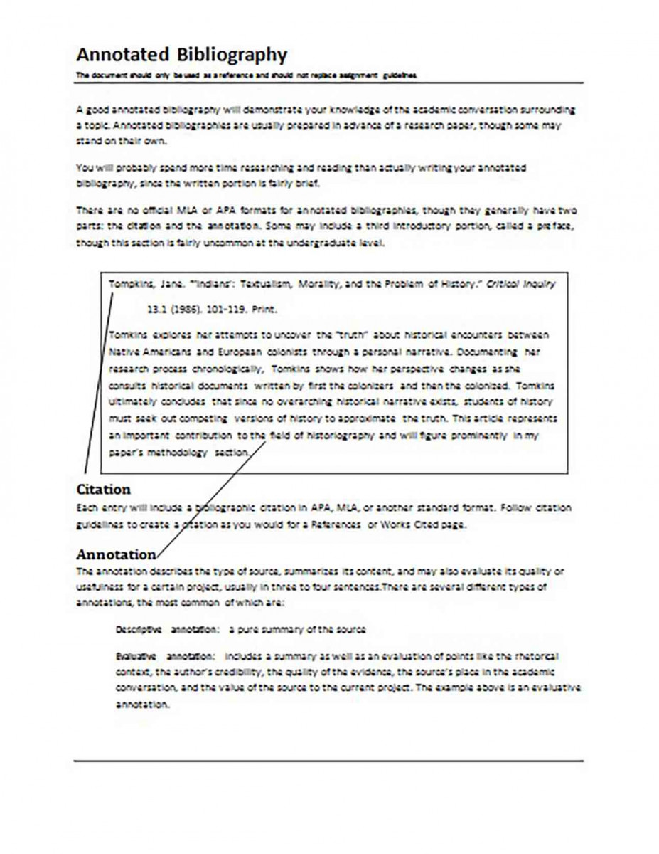 Sample Annotated Bibliography templates