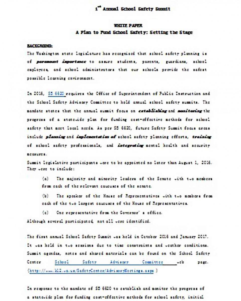 School Safety White Paper