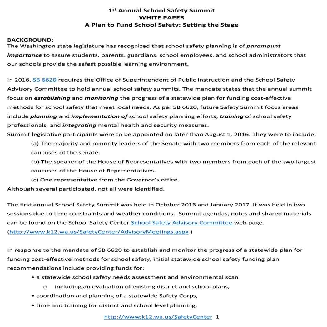 School Safety White Paper 1