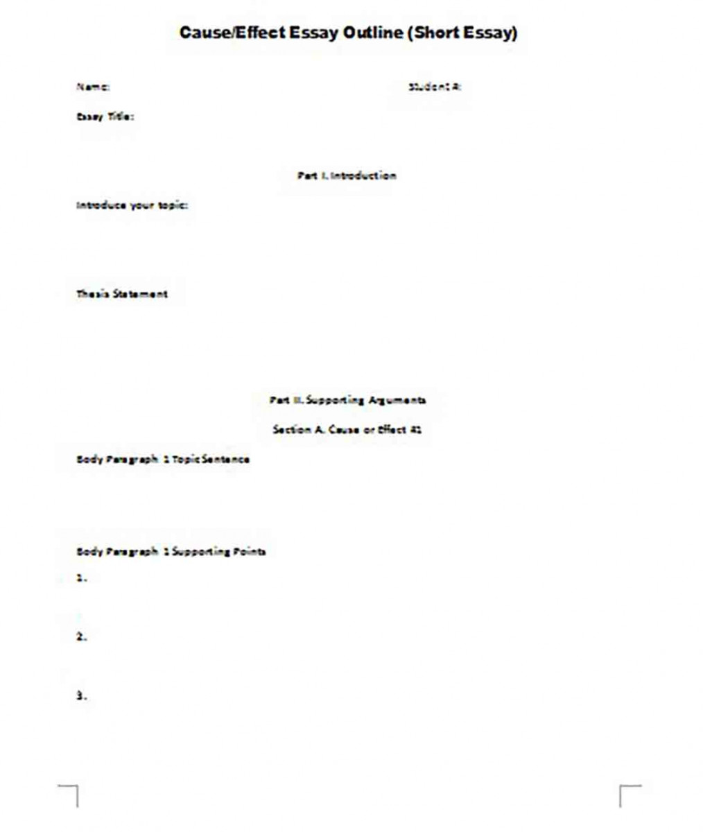 Short Essay Outline templates