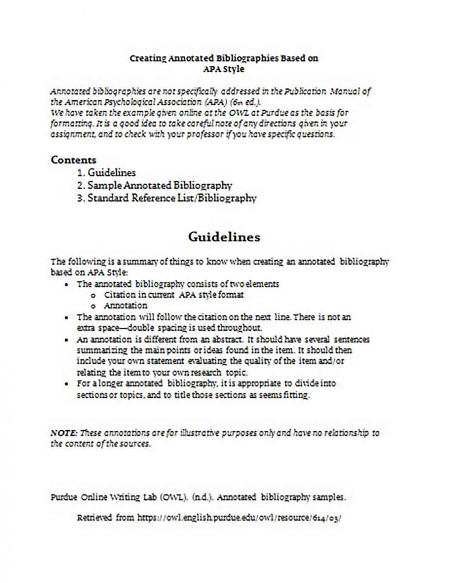 Simple Annotated Bibliography Purdue Generator1