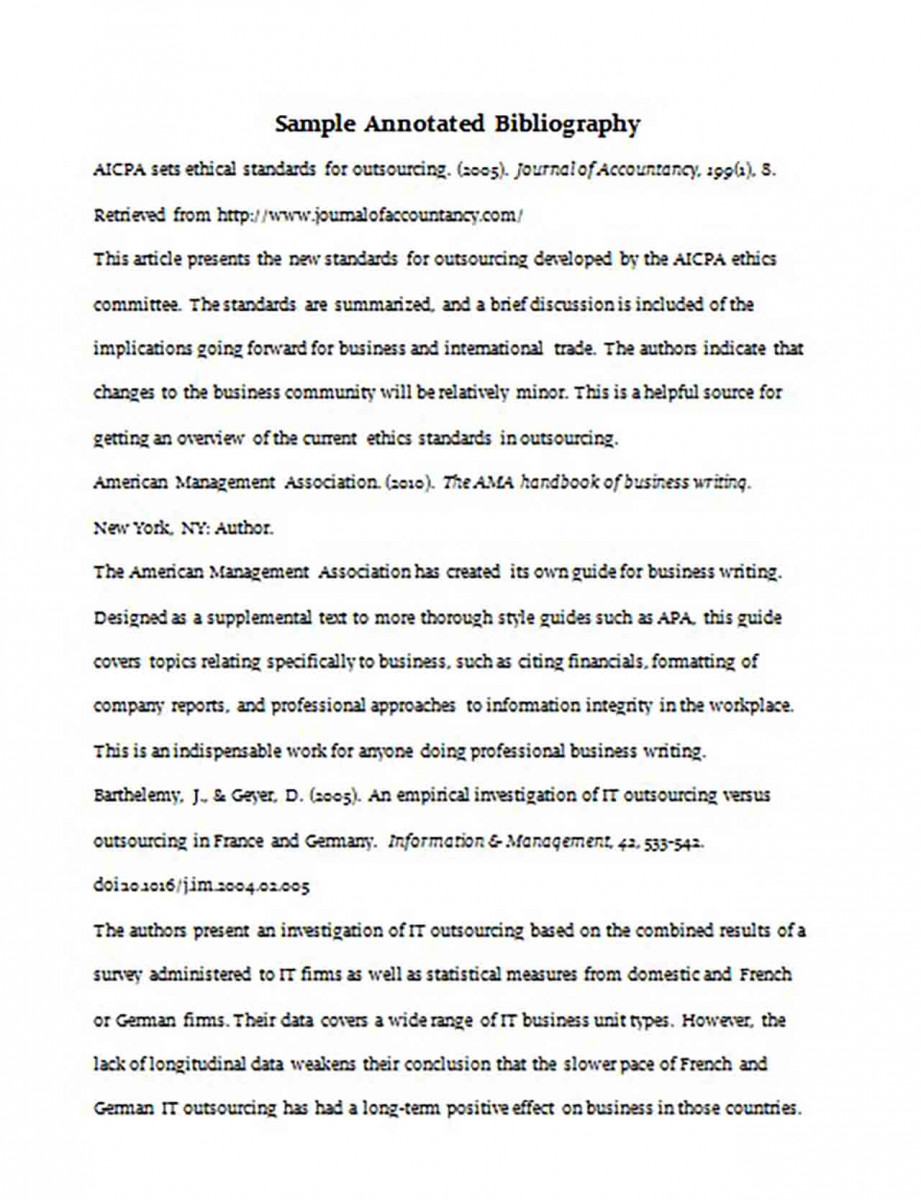Simple Annotated Bibliography Purdue Generator2
