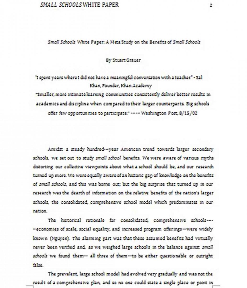 Small School White Paper