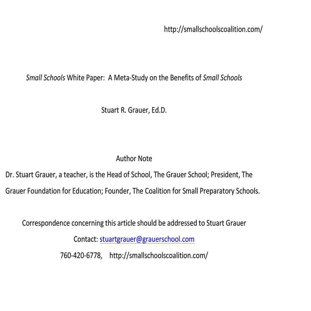 Small School White Paper 1