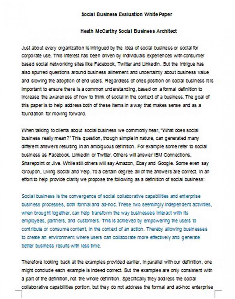 Social Business White Paper