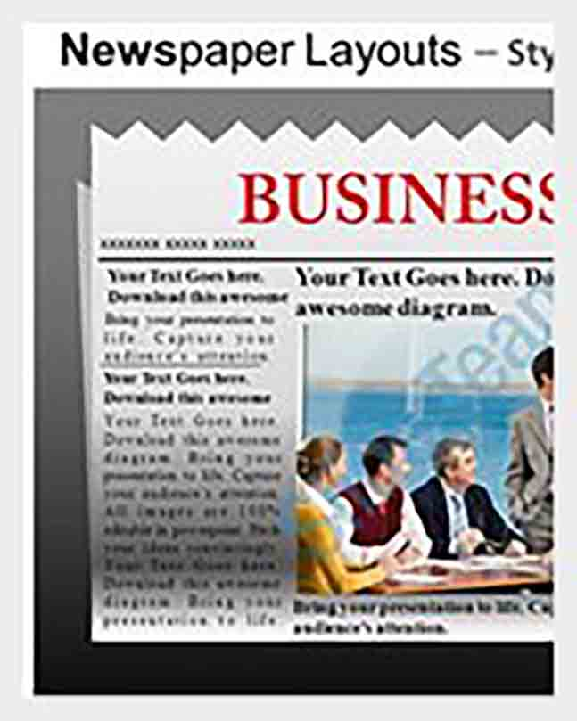 Spoof Newspaper Headline Powerpoint Example templates