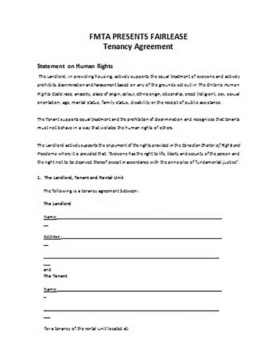 Tenancy Rental Agreement templates