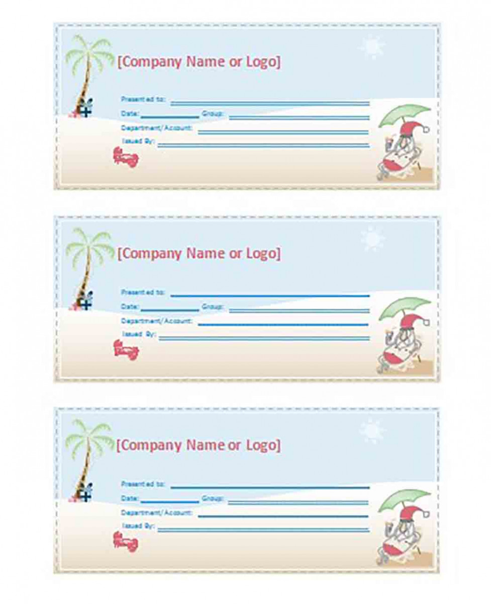 Travel Coupon templates