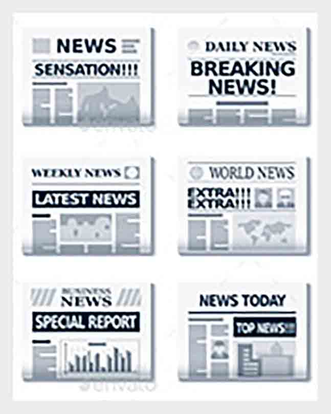 Vector EPS Format Newspaper Headline templates