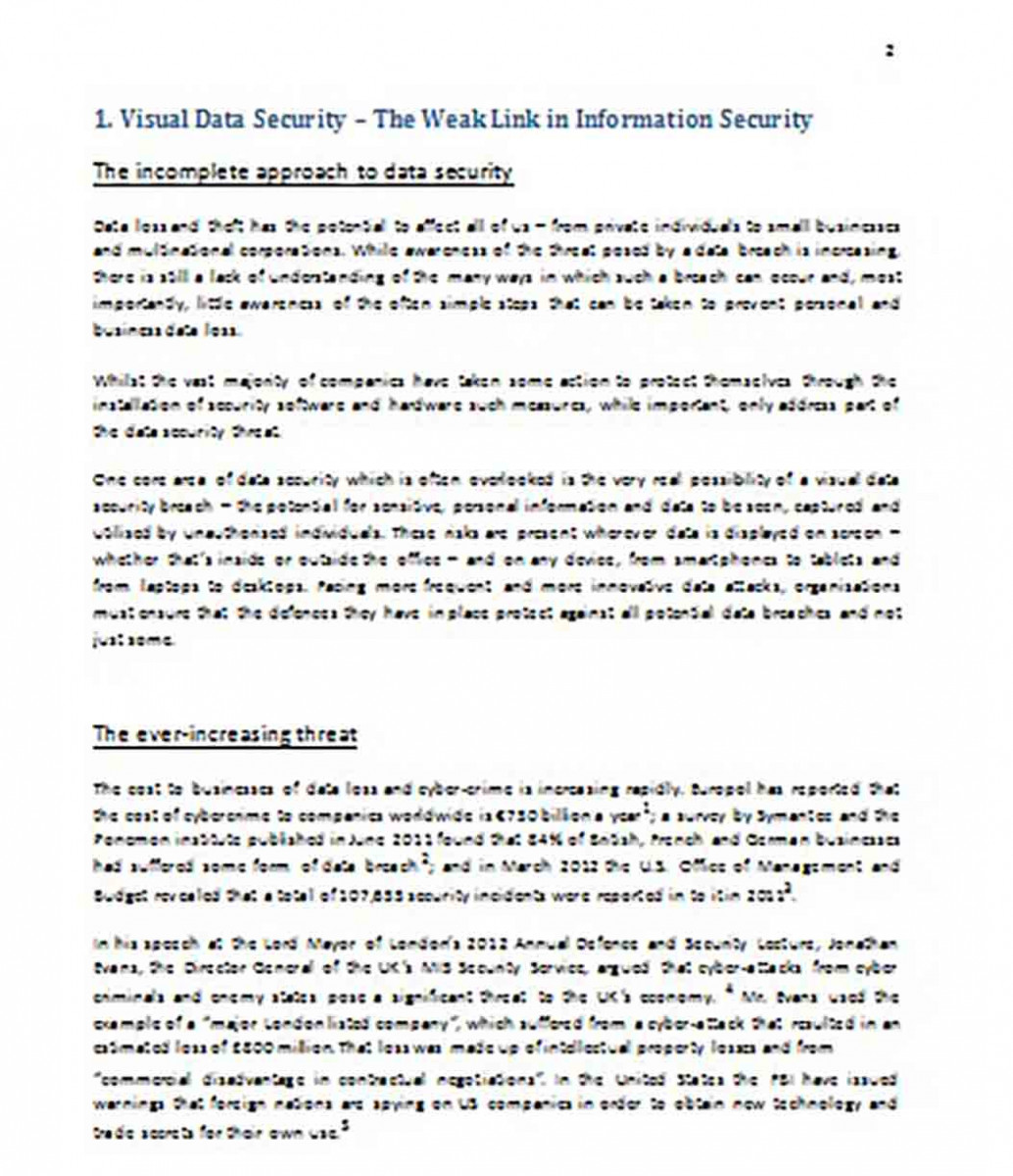 Visual Data Security White Paper
