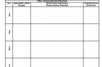 Weekly Lesson Plan templates Word