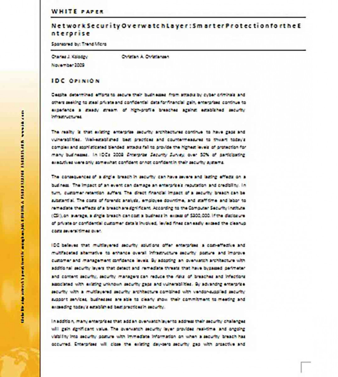 White Paper for Network Security