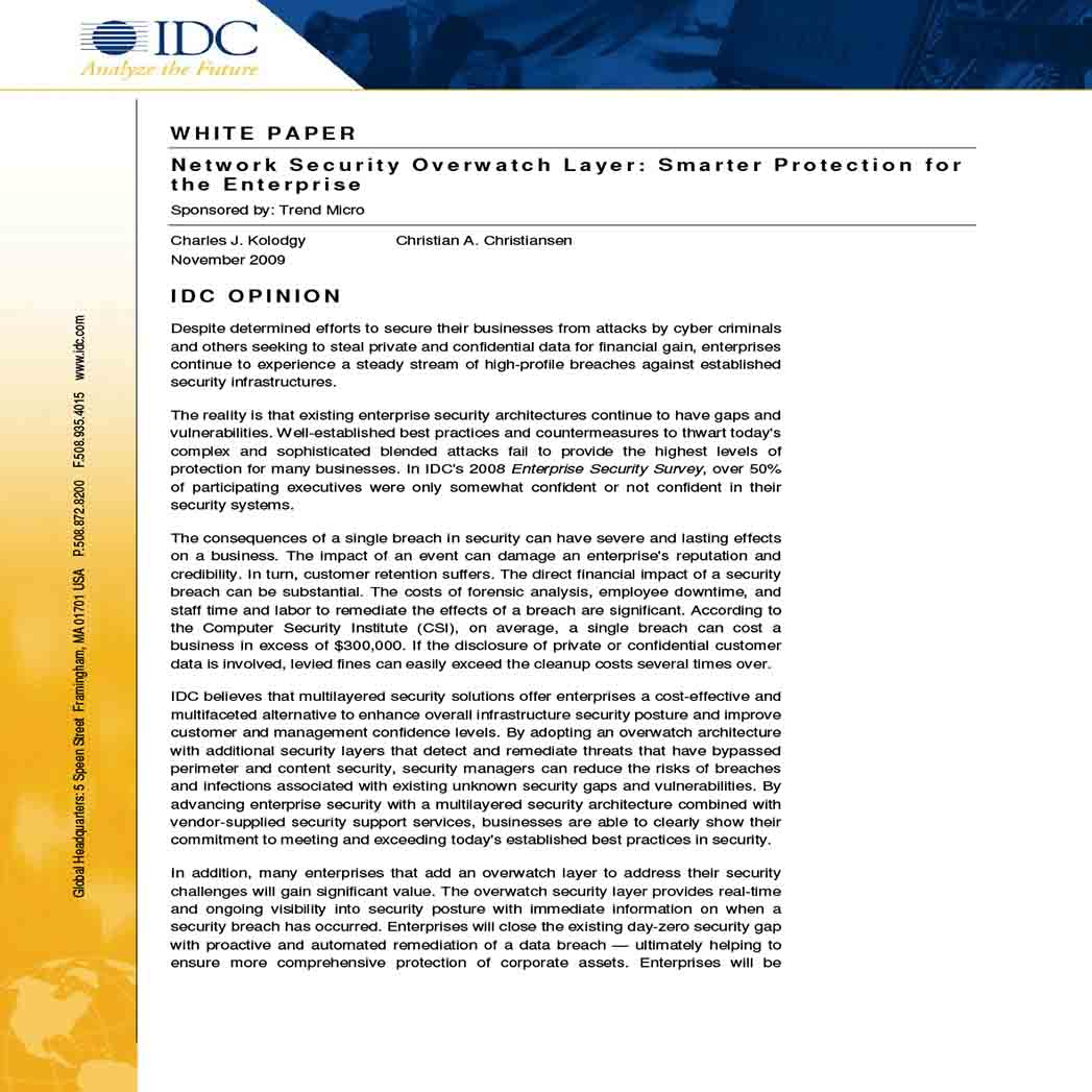 White Paper for Network Security 1