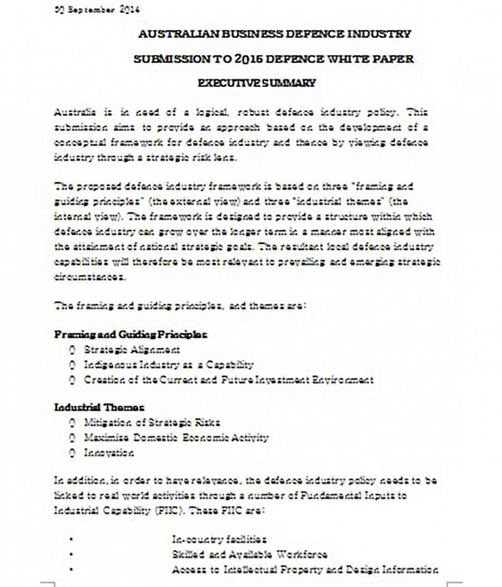 White Paper of Defence Industry