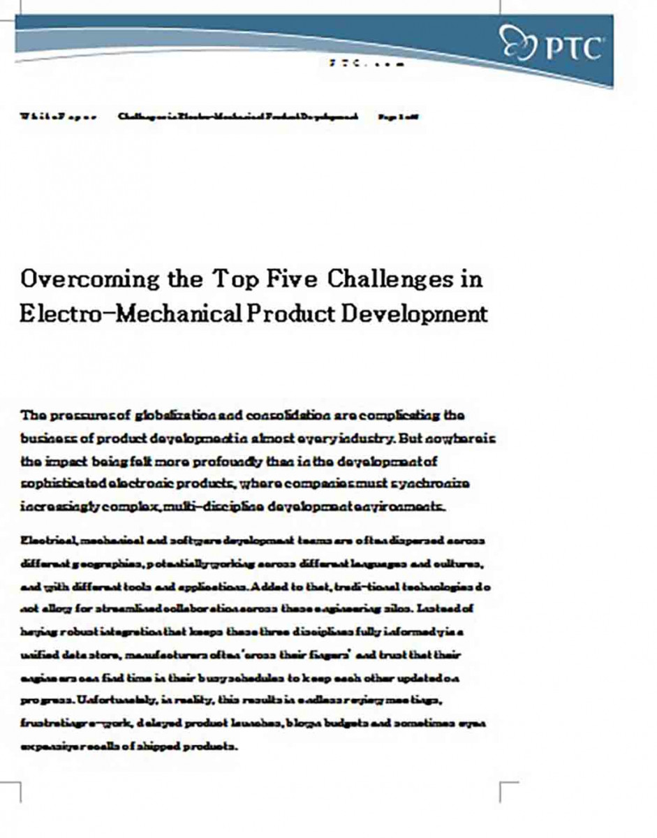 White Paper on Mechanical Product