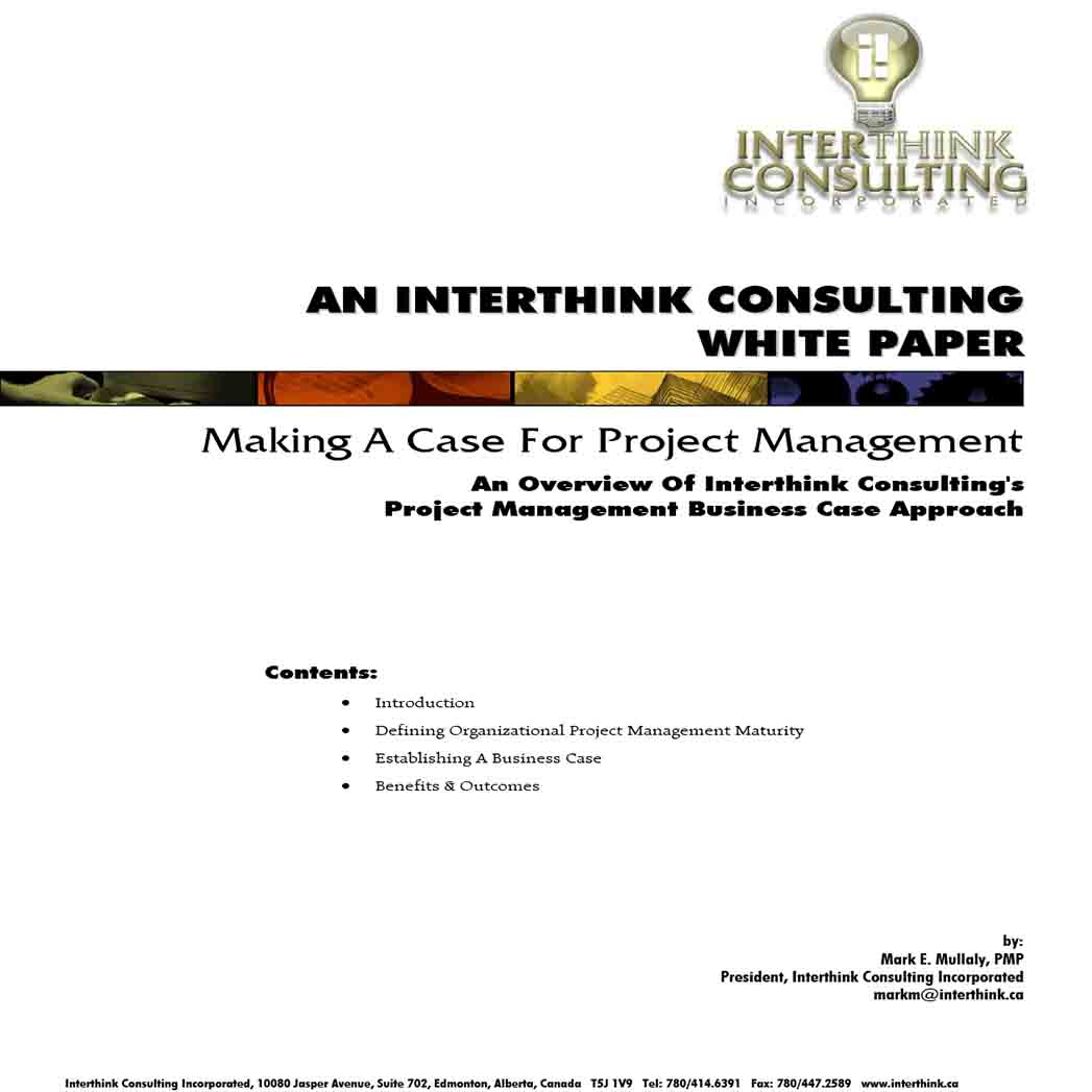 White Paper on Project Management 1