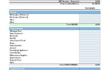 XLS Personal Budget Spreadsheet 1
