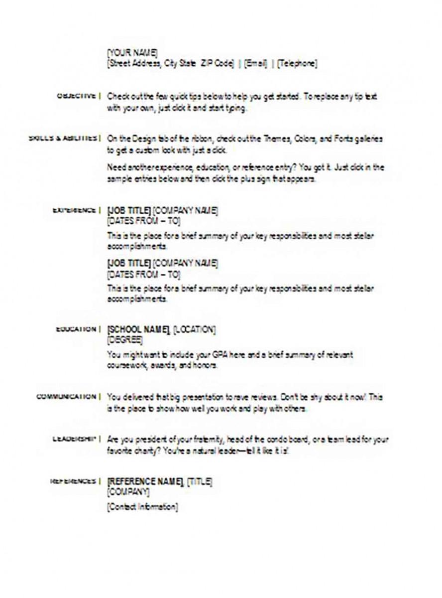 basic resume templates 1