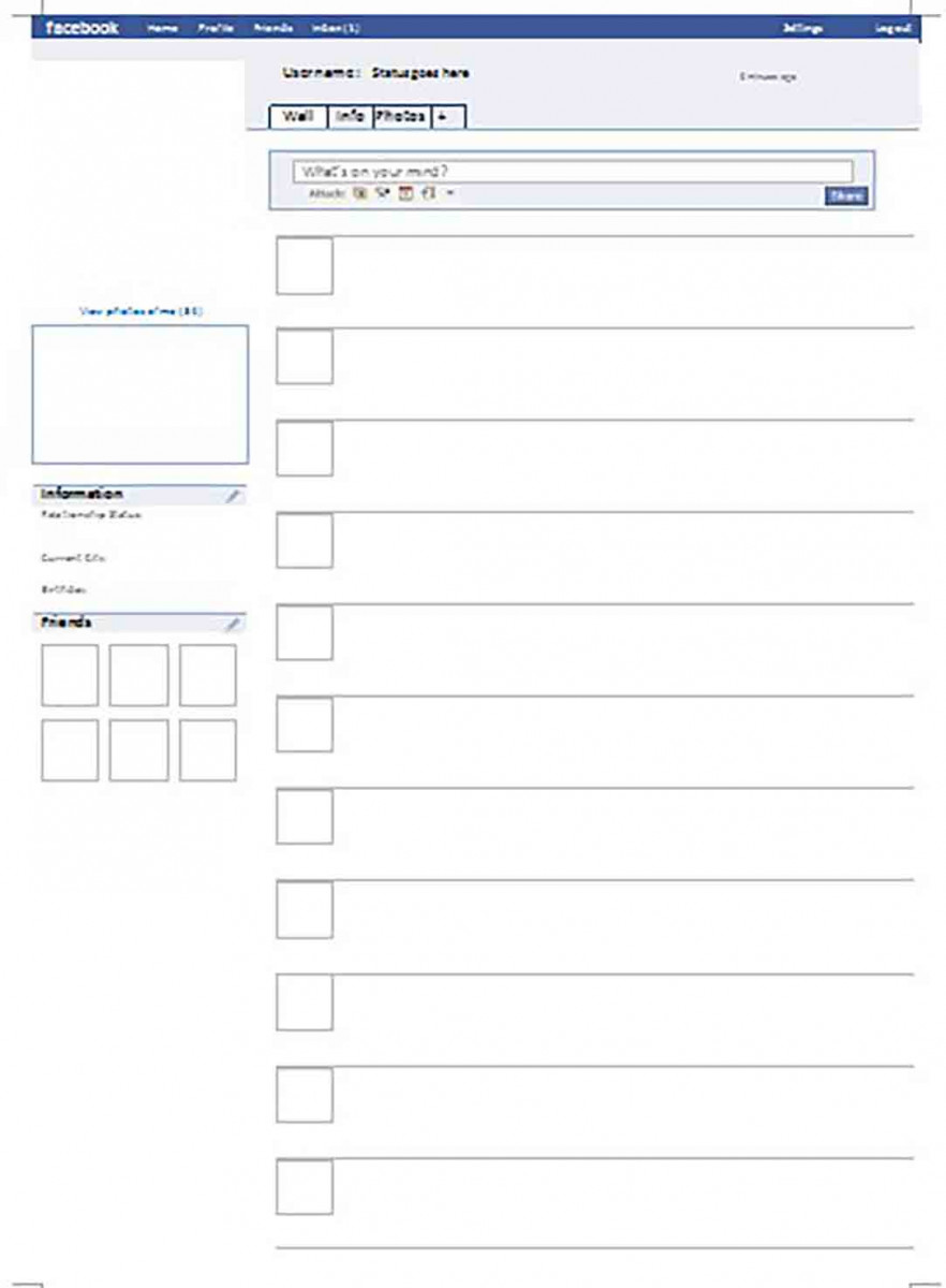 blank facebook page templates