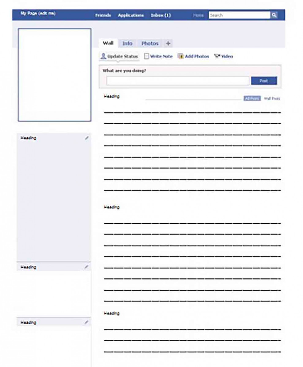 blank facebook templates for word
