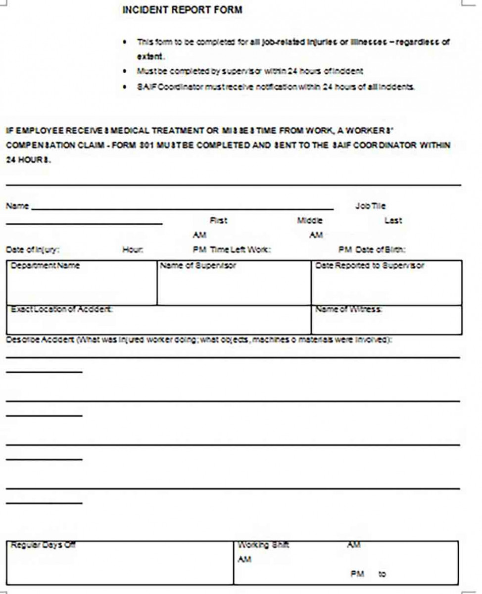 incident report templates 2