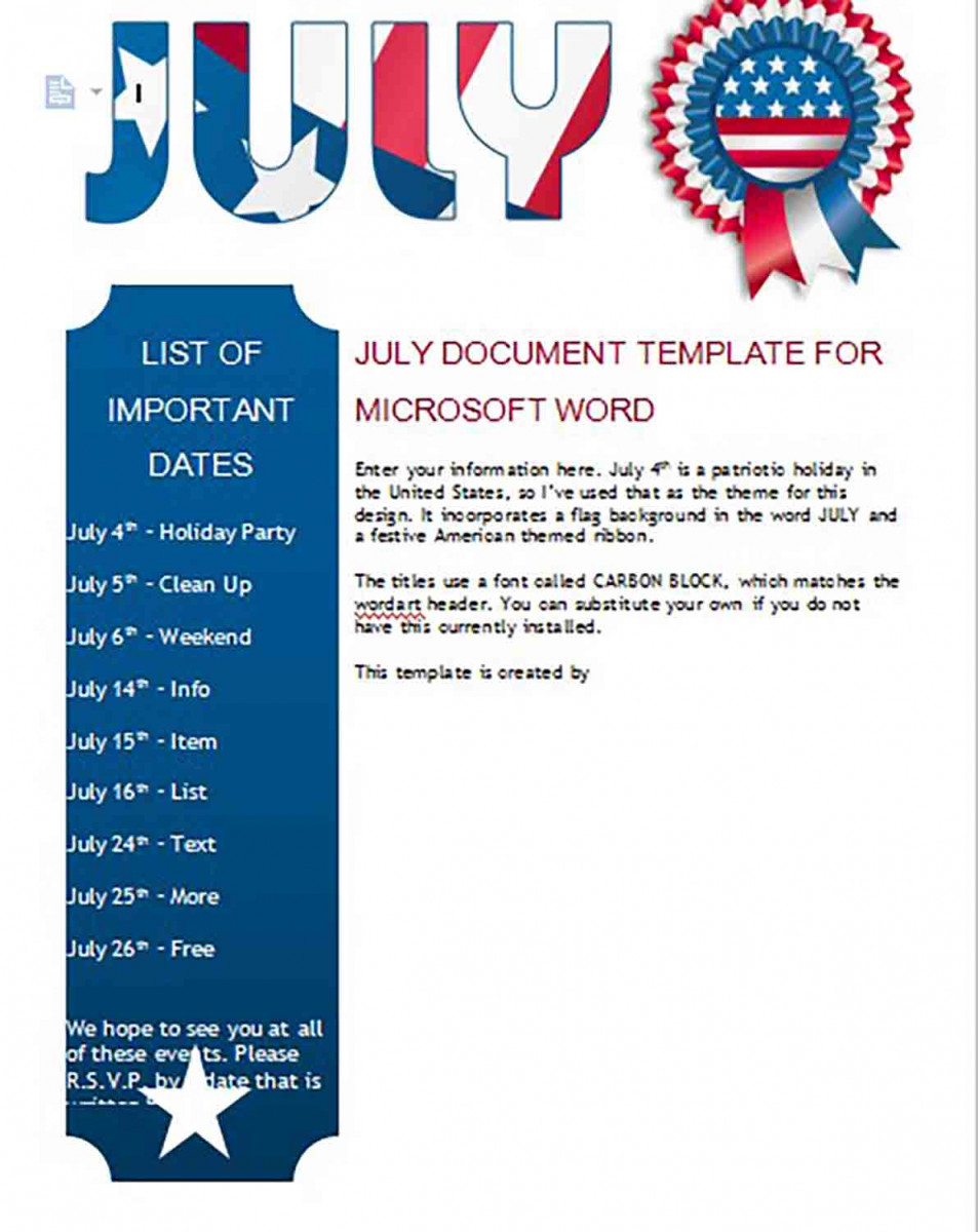 july newsletter templates