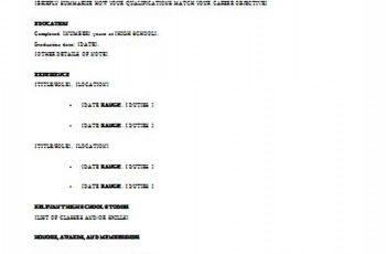 resume templates high school student academic