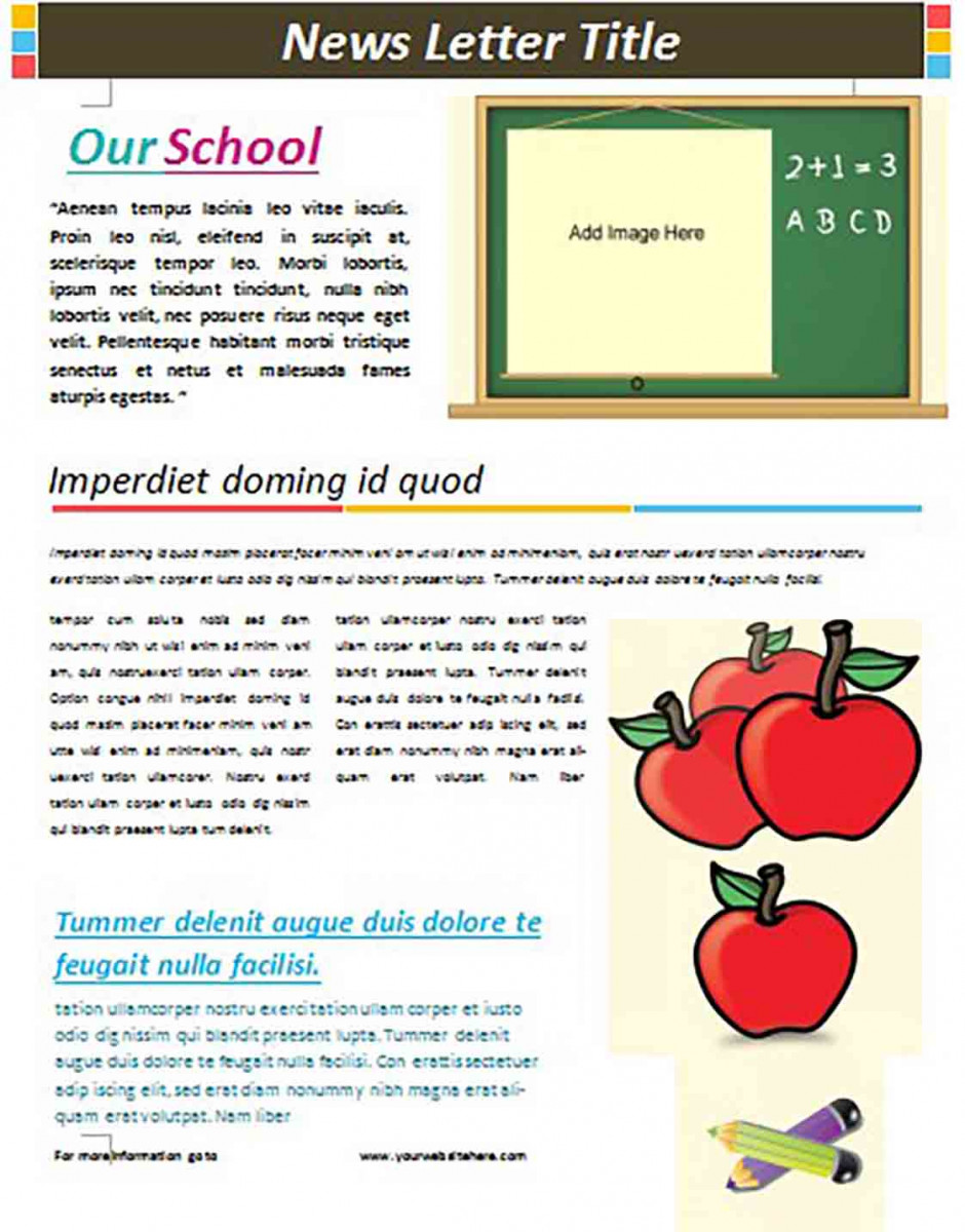school newsletter templates 2