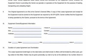 operator lease agreement template